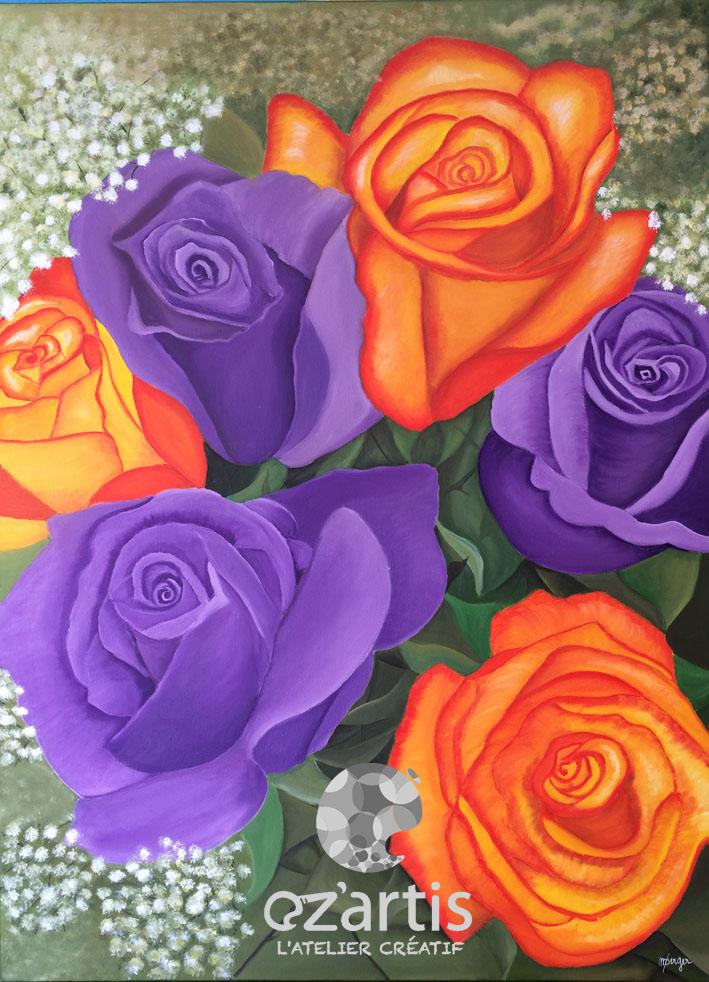 ozartis la rochelle peinture fleurs huile maryse oz 39 artis. Black Bedroom Furniture Sets. Home Design Ideas