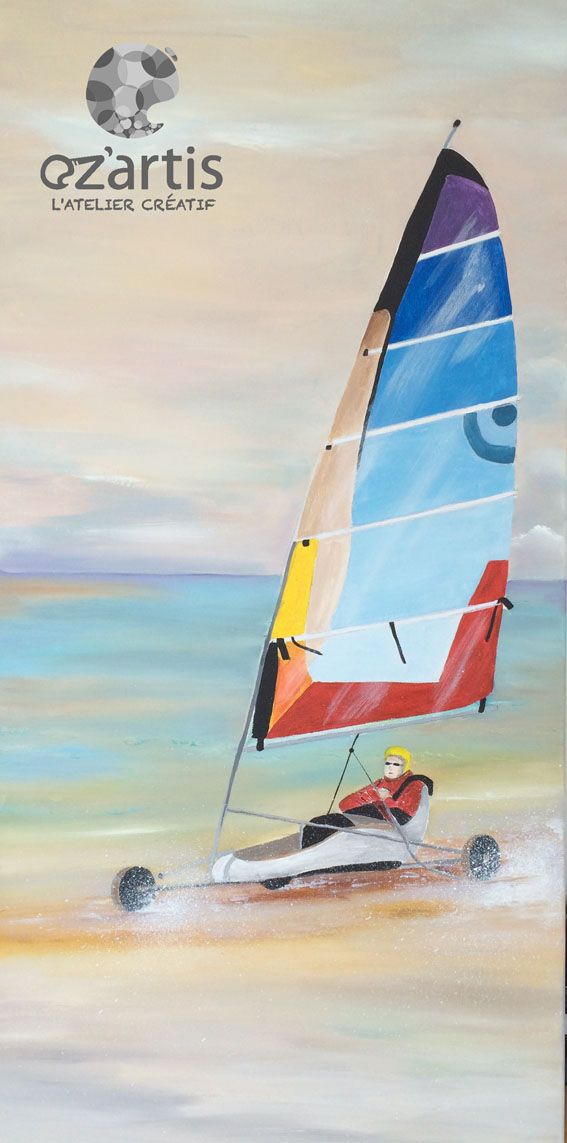 Ozartis La Rochelle Peinture Huile Char A Voile Andree D Oz Artis
