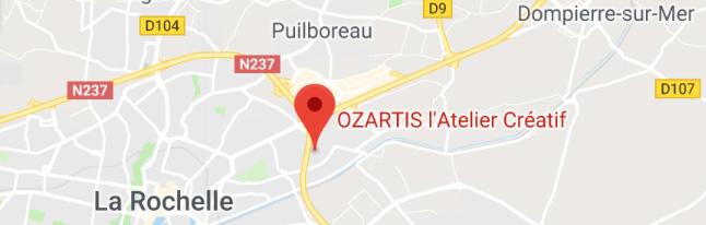 situer l'atelier de peinture OZARTIS